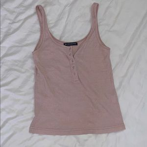 Baby Pink Button Tank